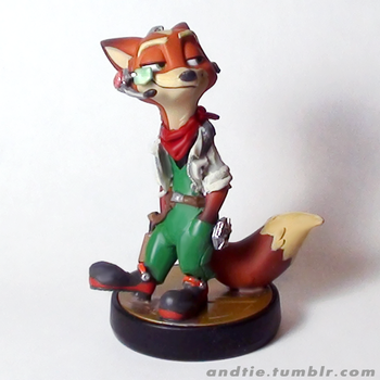 Toon Fox - Custom Amiibo by Pavlovs-Walrus