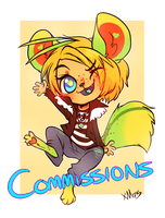 $20 Flat Chibi Commissions by xMits