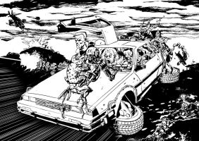 I'll be back to the future line art by PINGriff