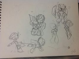 The Autobot Family - WIP by ChromiaSonicPrime