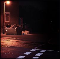 streetlamp-lit skip by wrenchy