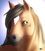 Moonshadow's portrait commish by Shalinka