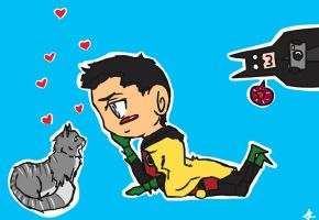 Damian Loves Kitty by hinote-ookami