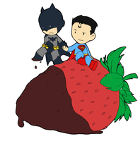 V-Day 2007 - Superman + Batman by avium