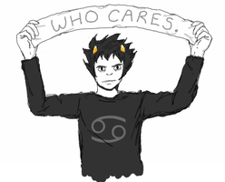 WHO CARES by bleed-the-wall