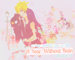 A day without you is like a year without rain. by tinystrawberry