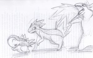 Playing with Typhlosion by ImHereForTheDrarry