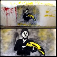 Scarface banana stencil by ipaintagain