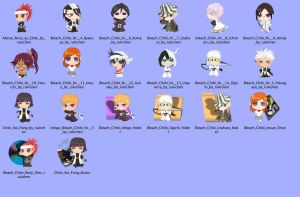 Bleach Chibi Icons for mac by rukichen