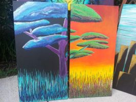 Raina Two Trees painting by Rainy-Day-Paintings