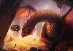 Smaug and Bilbo Talk by ARTdesk