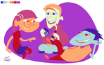 Edd, Edd, n' Eddy 9 Colors by LissyFishy
