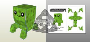 Minecraft Chibi Creeper Papercraft Preview by HellswordPapercraft