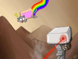Curiosity Killed The Nyan-Cat in Mars by AndrewKitamura