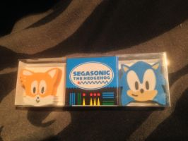 Sonic The Hedgehog Japanese Eraser set by DarkGamer2011