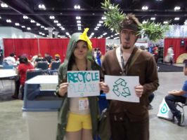 Anime Expo- Recycle Cosplay by foxanime101