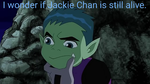 Beastboy Wondering. by catdragon4