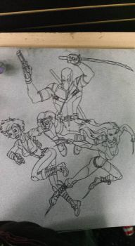 Crater City Comix Tombs WIP X Force ink by Wolfgang-Blaine