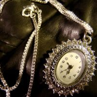 Neo Victorian Clock Necklace by Om-Society