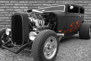Hot rod Black and White by ShannonCPhotography