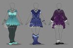 Sparkly Dress Designs - sold by Nahemii-san