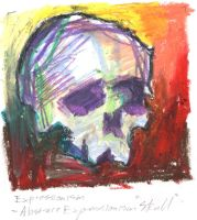 Abstract Expressionist 'Skull' by kiltpower