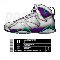 Air Jordan 7 'Grape' by BBoyKai91