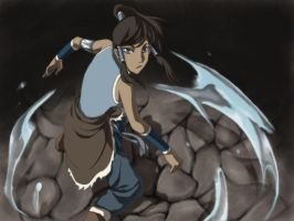 fight of korra by kaoringring