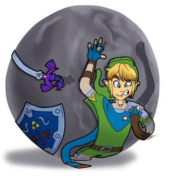 Link vs the Boulder by The2DSilverHedgehog