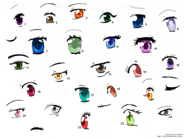 Anime Eyes 3 by izka197
