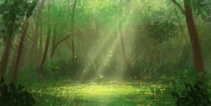 Daily spitpaint - The Heart of the Forest by M-Whistler