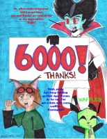 +6000 Pageviews+ by MilleniumFoxMagician