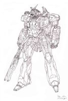 ASX-03R Long Range Sniper Mobile Armor by Cefiros