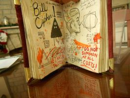 Gravity Falls Journal 3 Replica: Bill Cipher Page by Onislogo