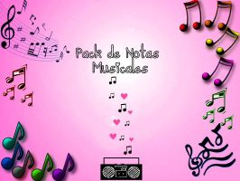 Pack de 46 Notas musicales para textos PNG by CaamiMaslow