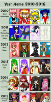 Year Meme 2010 - 2016 by Miscolored
