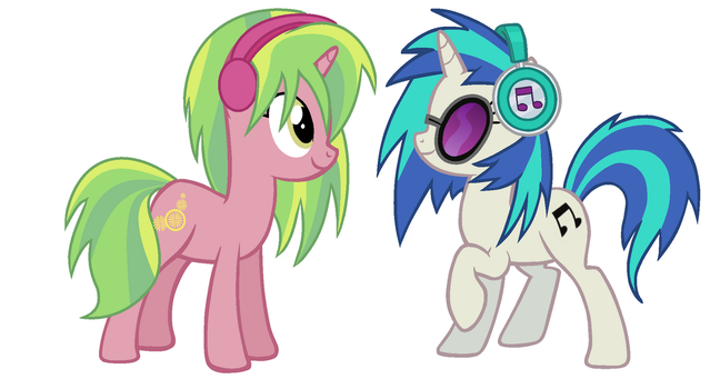 Vinyl Scratch and Lemon Zest by Lenka-De-Cookie