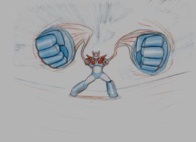 Mazinger Punch Out by cibersan