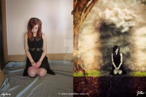 Before and After Under a Very Black Sky by Papillon-Noir-Art