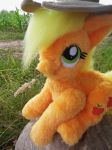 Poseable fur Applejack plushie FOR SALE by angelberries