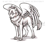 Winged Alpha She-Wolf Commission by WildSpiritWolf