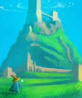 Fort on a hill by Raikoh-illust