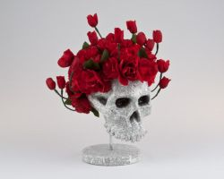 "Bertha ""Skull and Roses"" by thepapierboy"