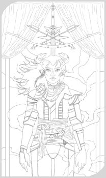 Inquisitor Lilith Adaar Tarot Card - WIP by handraw