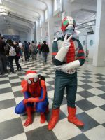 V3 and Spiderman by Rom-Stol
