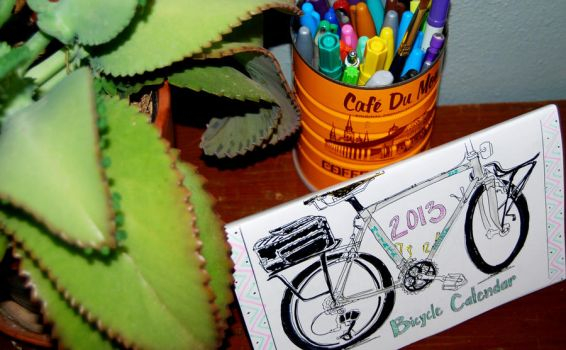 2013 Bicycle Coloring Calendar IV by revolta