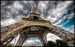 Paris - Eiffel Tower V WP by superjuju29