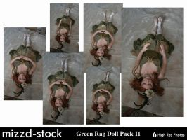 Green Rag Doll Pack 11 by mizzd-stock