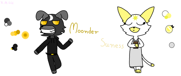 Suness And Moonder by xmangle666