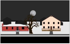Street and Houses Background by Nineteen-Angels